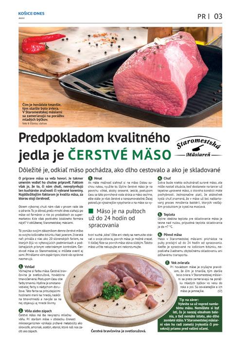 Predpokladom kvalitného jedla je čerstvé mäso