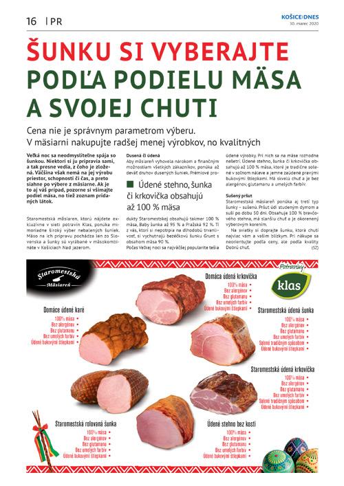 Šunku si vyberajte podľa podielu mäsa a svojej chuti